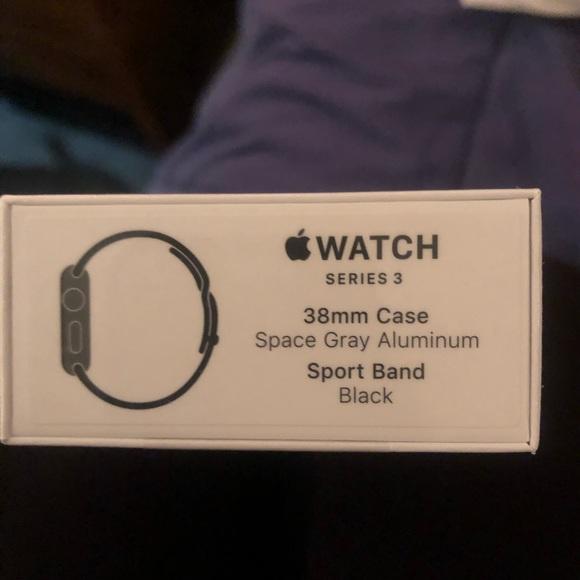 Apple Watch series 3, 38mm black